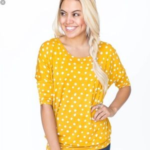 Mini Dot Gold Dolman Tunic Agnes & Dora XXL